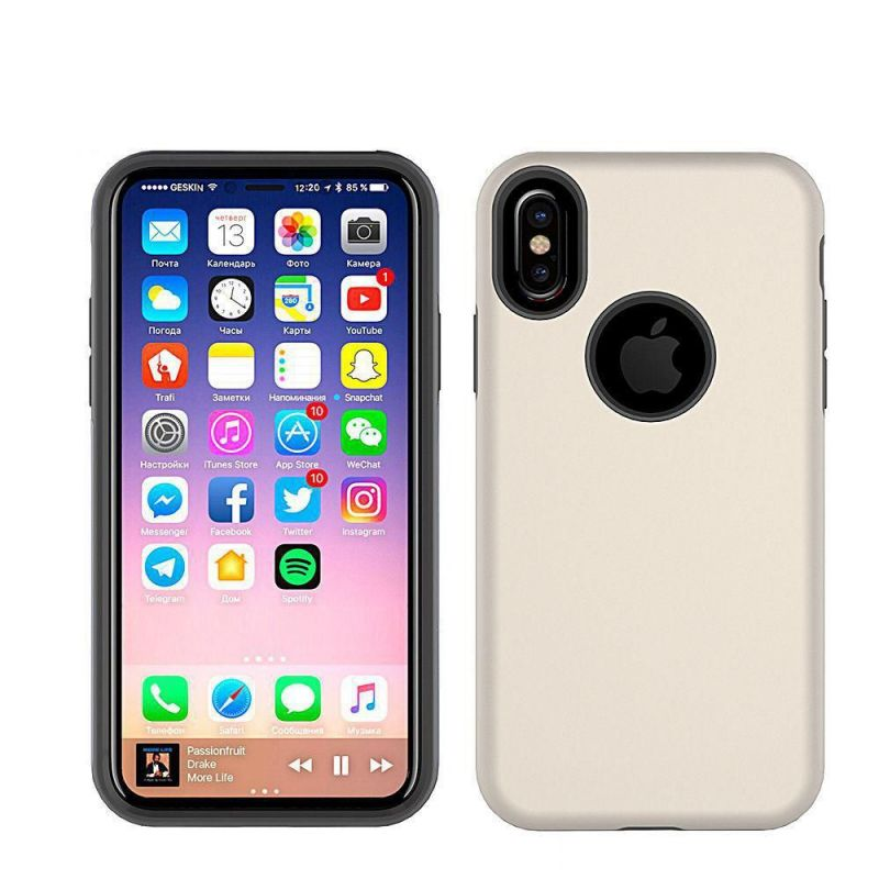 Cover Hybrid X pour iPhone X SILVER