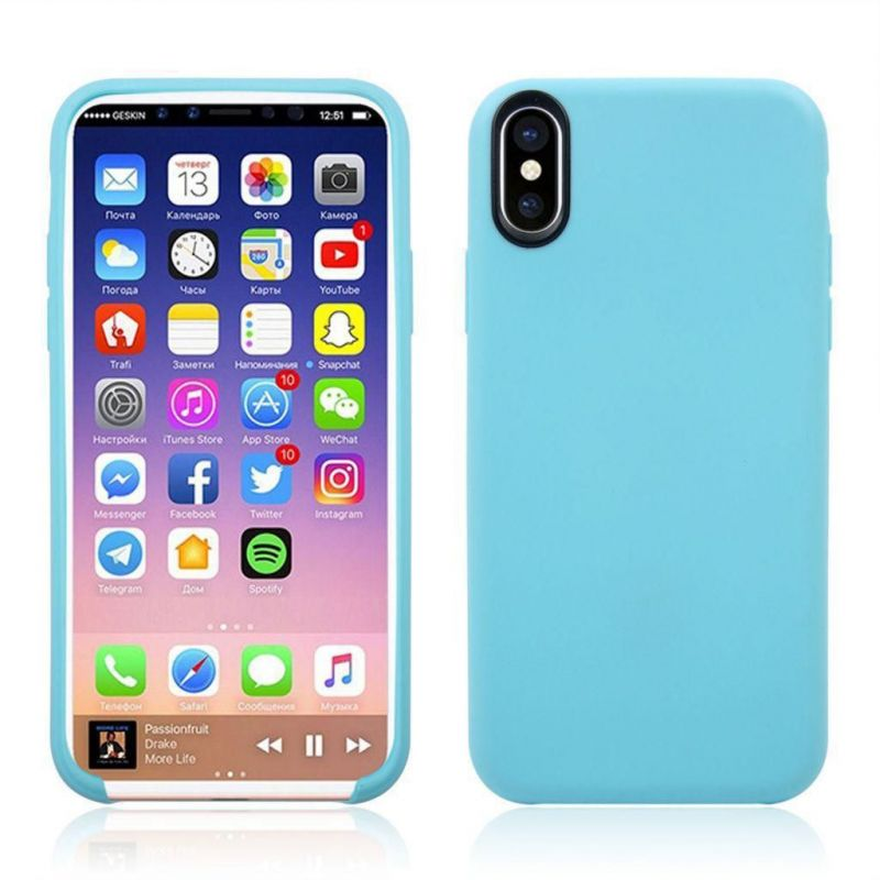 Cover Softy pour iPhone X Blue