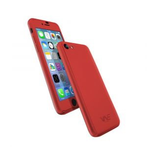 Cover 360° en Rubber pour iPhone 8+ RED