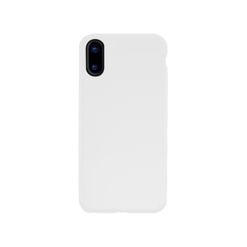 Cover Rubber pour iPhone X Wave Concept White